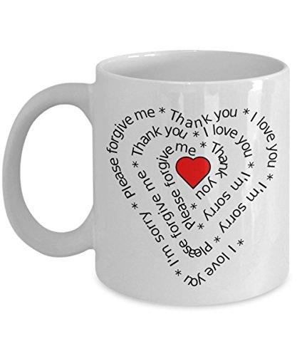Hooponopono I love You Mug Meditation Hawaiian Marriage Prayer Heart Gift