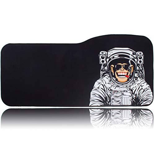 (BRILA Extended Mouse pad - Curve Design Gaming Mouse pad - Stitched Edges & Skid Proof Rubber Base - 29