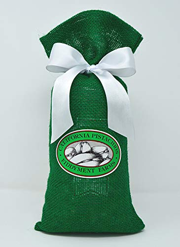 Fiddyment Farms 2 Lbs Lightly Salted Pistachios in Green Burlap Bag