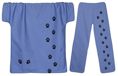 EWC Men's Paw Prints Scrubs (Tech Scrub Pajama Pants)