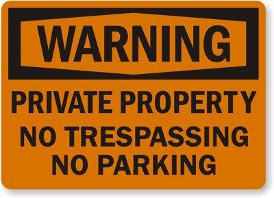 Alerta: propiedad Privada, no trespassing, no señal de ...