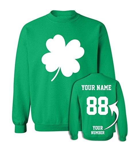 Shamrock Shamrock Kids Sweatshirt - Custom Jerseys St Patrick's Day Sweaters - Saint Pattys Sweatshirts Irish Outfits
