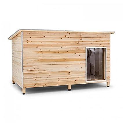 Oneconcept Schloss Wuff L • Caseta de protección para Perro • Paredes de Madera con Aislante • Cantos protegidos • Resistente Lluvia • Casa de Mascotas para ...