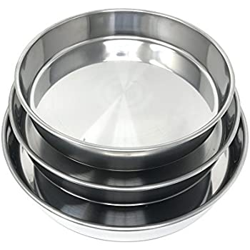 Amazon Com Concord Cookware 3 Piece Stainless Steel Cake