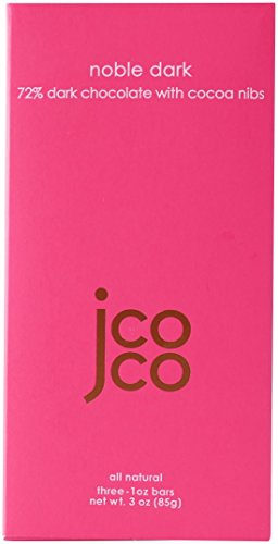 Jcoco Non GMO Chocolate Bars: Pack of 6, 3 ounce Gluten-free Chocolate Bars (Noble Dark)