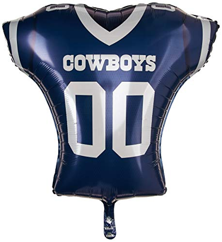 Anagram 26194 NFL Dallas Cowboys Football Jersey Foil Balloon, 24