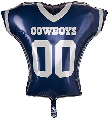 - Anagram 26194 NFL Dallas Cowboys Football Jersey Foil Balloon, 24