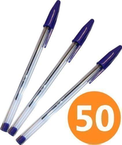 Pack of 10 black Eziball medium ball point pens
