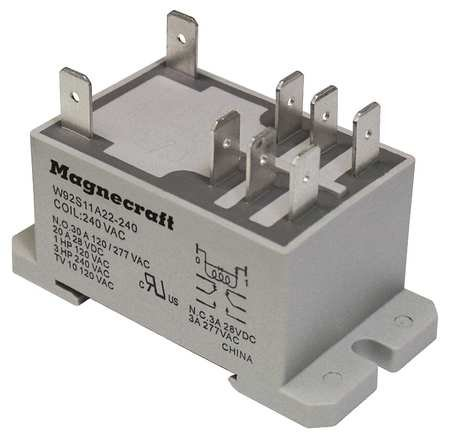 - Enclosed Power Relay, 8 Pin, 240VAC, DPDT