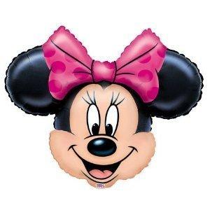 Broward Balloons Disney Minnie Mouse Head Mini Shape 14 Inch Balloons (Qty2)]()