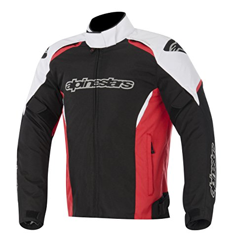 Alpinestars Gunner Waterproof Jacket, Gender: Mens/Unisex, Primary Color: Red, Size: XL, Apparel Material: Textile, Distinct Name: Black/White/Red 3206815-123-XL
