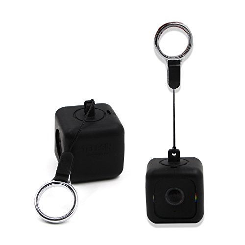 TELESIN Bumper Pendent Case for Polaroid CUBE,CUBE+ Action Lifestyle Cameras with Necklace Lanyard and Removeable Clip (Black) Action Camera Accessories