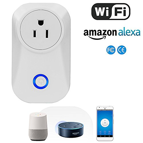 Price comparison product image Smart Plug/Socket Wireless Outlet Wi-Fi/WiFi Enabled Works with Amazon Echo Alexa and Google Home Assistant, No Hub Required, Android/IOS App and Voice Remote Control Anywhere and Anytime Max Load 10A