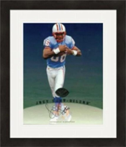 Autographed Joey Kent Photograph - 8x10 Houston Oilers Matted & Framed - Autographed NFL Photos