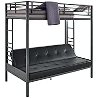 DHP Jasper Premium Over Futon Bunk Bed, Twin Size - Black