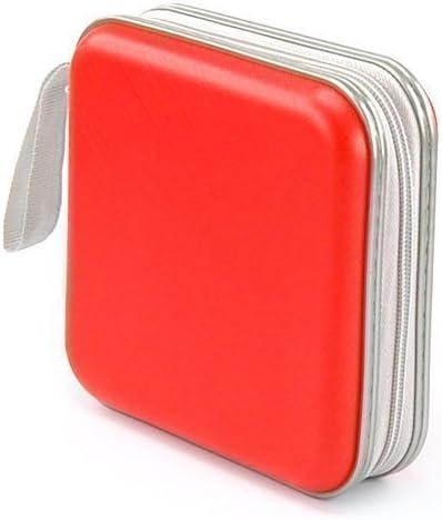 Accessotech rojo 40 discos CD y Dvd estuche cartera bolsa de plástico disco de juegos: Amazon.es: Electrónica