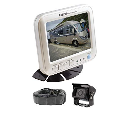 Rearview Backup Camera System Complete with 5-inch Color Monitor, Weather Proof Camera, 65-ft Harness.
