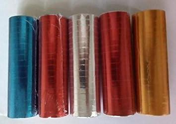 5 Rollen Metallic Blau Gold Silber Bunt Luftschlangen A 4 Meter Fur