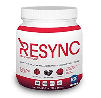 RESYNC – Clinically Formulated Nitric Oxide Booster Inflammatory Support Featuring Unrivaled Ingredients Oxystorm, Red Spinach, Beet Root, Aronia More Non-GMO, Gluten Free, Vegan