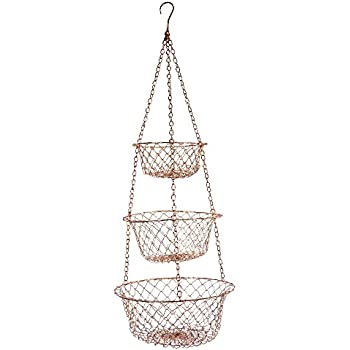 Fox Run 5211 Hanging Wire Baskets, Copper