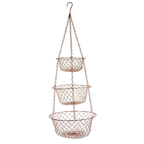 Fox Run 5211 Hanging Wire Baskets, Copper (Hanging Onion Basket)