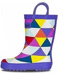 Children's Waterproof Rubber Rain Boots In Fun Patterns...