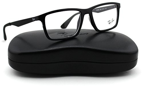 Ray-Ban RX7056 Unisex Eyeglasses (Shiny Black Frame 2000, (Discount Ray Ban Eyeglasses)