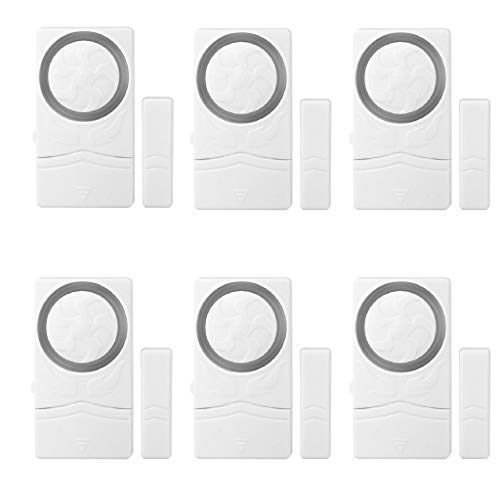 HowLoo Door and Window Alarm for Home Antitheft Alarm Systems Magnetic Sensor Alarm 6PC