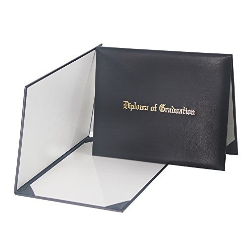 Padded Certificate Holder - GraduationMall Imprinted Diploma Cover Black 8 1/2