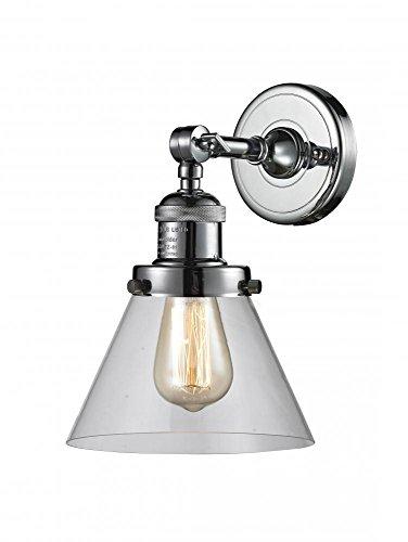 Innovations Lighting 203-PC-G42 1 Light Sconce, Polished Chrome