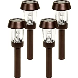 Westinghouse Pinnington Steel Color Changing Solar Path Lights (Bronze, 4 Pack)