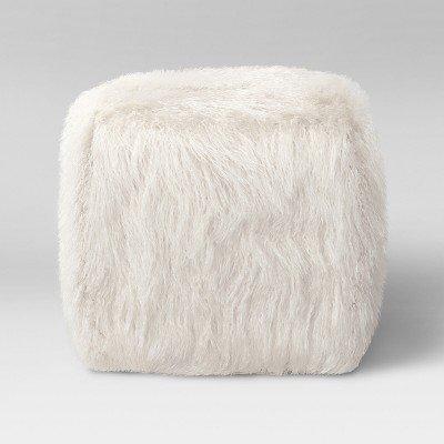 Amazon Faux Fur Pouf Ottoman White Room Essentials40 White Stunning Faux Fur Pouf Ottoman