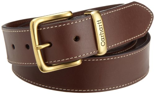 Carhartt Men's Big and Tall Signature Casual Belt, Jean Brown 54