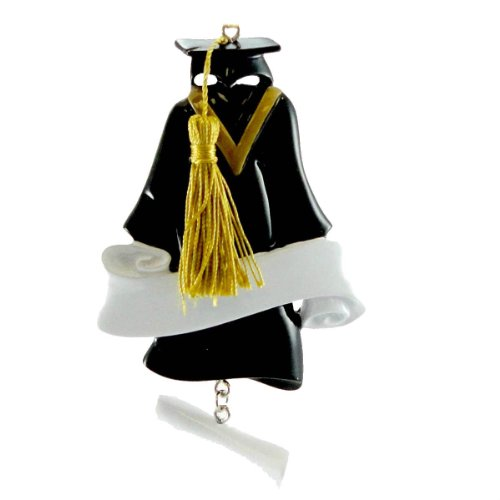 Personalized Ornaments GRADUATION GOWN OR789 Personalized Free Cap Gown New