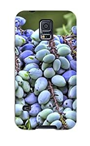 Galaxy S5 Case Cover - Slim Fit Tpu Protector Shock Absorbent Case (juniper Berries)