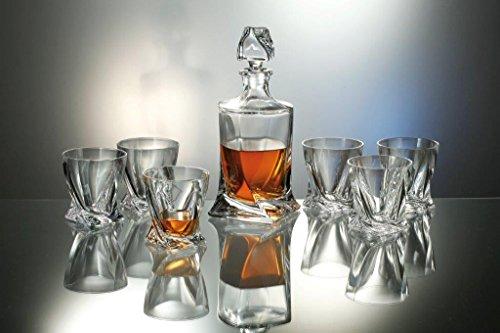 Bohemia Royal Design Whisky Set 7 tlg. - Karaffe 1000 ml & 6 Glässer je 410 ml #802399