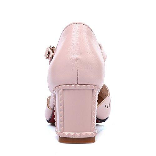 SLC04248 Compensées Sandales Femme Rose AdeeSu Sqv71RWww