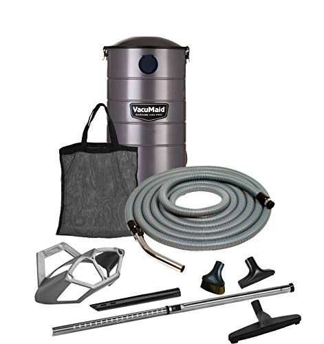 VacuMaid GV50PRO Wall Mounted Garage and Car Vacuum with 50 ft. Hose and Tools. ()