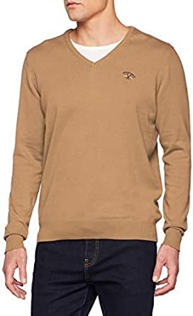 Spagnolo JR Cuello Pico Basico 0002 Jersey, Beige (Camel ...