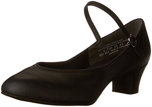Capezio Womens 459 Suede Zool Jr. Footlight Character Shoe Zwart