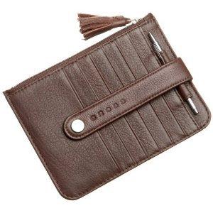f85a637fdc Cross Brown Italian Full Grain Autocross Women's Premium Leather Money  Wallet Slim Medium Card Case with Zip (Brown/Pink) - Buy Online in UAE.