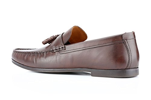 Ruban Rouge woodcroft Tassel Mocassins Casual chaussures pour homme en cuir marron clair Noir - marron - marron, 25