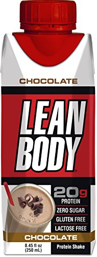 LABRADA - Lean Body Ready to Drink Protein Shake, Convenient On-The-Go Meal Replacement Shake for Men & Women, 20 Grams of Protein – Zero Sugar, Lactose & Gluten Free, Chocolate (Pack of 16) -