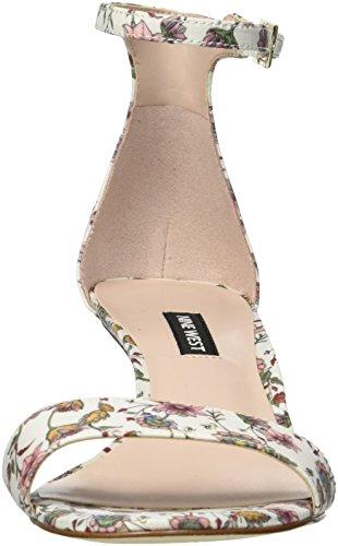 Multi Leisa Heeled Women Fabric West Nine White Sandal E7w6a0nxq