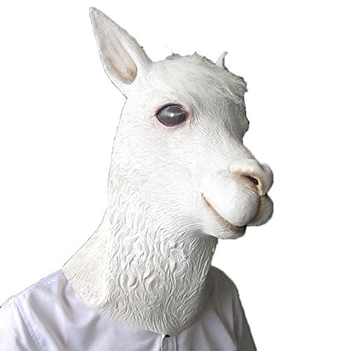 [Animal Caps Partying Funny Mask-Cosplay--Grass Mud Horse] (Latex Wolf Suit)