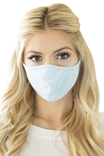 Reusable Fabric Face Mask Covering Unisex – Washable Cloth Breathable Mouth Protection Adjustable Neck Strap