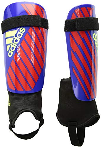 - adidas X Club Shinguard, Bold Blue/Active Red/Solar Yellow, Small