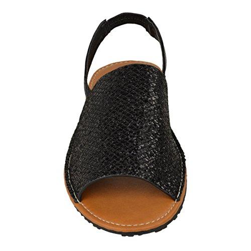 Glitter Shoes Sandals Flop Thirsty Sling Glitter Flip Fashion Summer Black Back Menorcan Womens ZI4wX