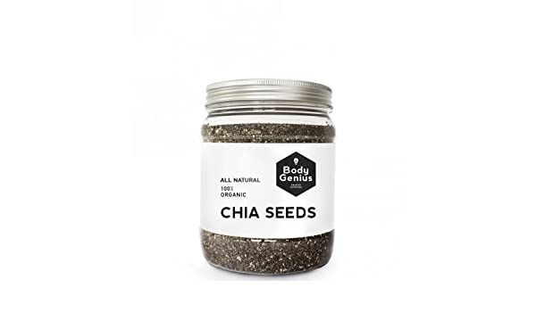BODY GENIUS Chia Seeds. All Natural. 100% Organic. Semillas de ...