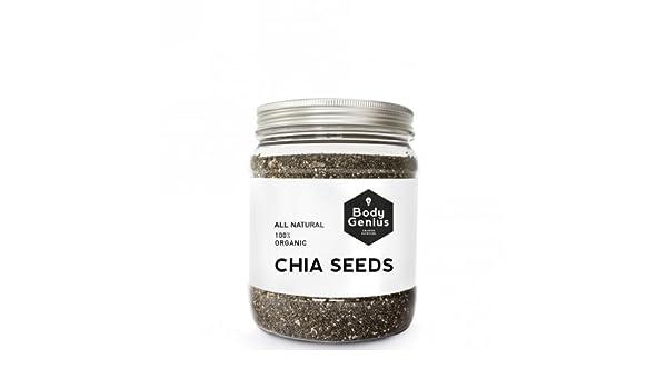 BODY GENIUS Chia Seeds. All Natural. 100% Organic. Semillas de ...